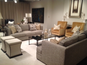 bernhardt gold & gray